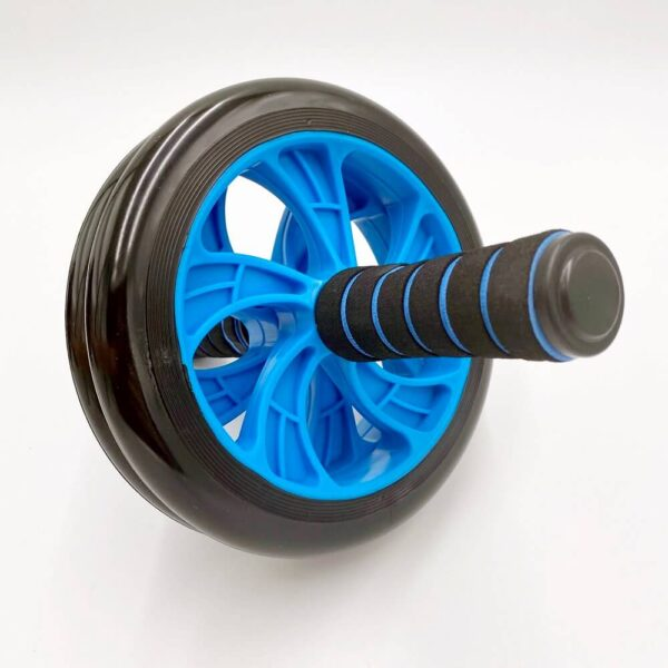 Double exercise wheel blue black 2 » Double Exercise Wheel (Blå/Sort)