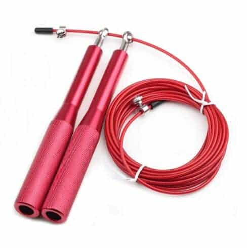 Sportsact Speedrope PRO med staalwire og aluminiums haandtag roed » Sportsact Speedrope PRO rød (Aluminium greb)